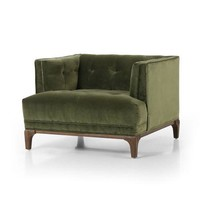 ANTON ARM CHAIR-SAPPHIRE OLIVE