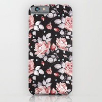 Vintage Pink Rose Flowers iPhone & iPod Case by Smyrna