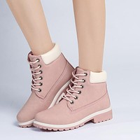 Hot Deal On Sale Casual Dr. Martens Winter Training Flat Shoes Plus Size Boots [9122250311]