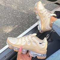 Nike Air Vapormax Plus Trending Woman Men Stylish Running Sport Shoes Sneakers Apricot