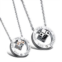 Korean Accessory Jewelry Love Titanium Couple Pendant With Christmas Gift Box [10657616071]