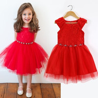 Baby Kid Girls Princess Formal Party Tutu Lace Flower Gown Dress One-Piece = 1712520068
