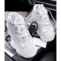 Adidas Yeezy 500 Boost Sneakers Sports Shoes Daddy thick soles More Color Optional White-1