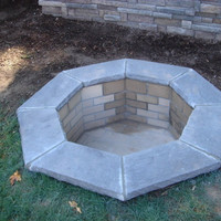"""Do-It-Yourself Ready-to-Finish 42"""" Octagon Fire Pit Kit"""