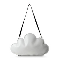 Two Color Cloud Clutch/Shoulder Bag
