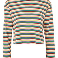 Long Sleeve Rainbow Striped T-Shirt