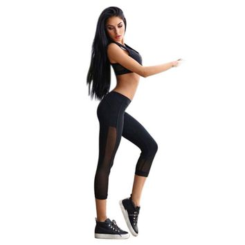 Mesh Breathable Yoga Pants
