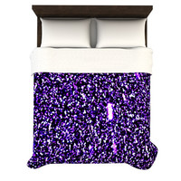 "Maynard Logan ""Purple Dots"" Woven Duvet Cover"