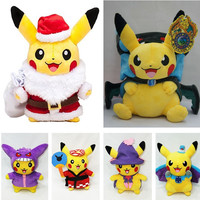 "Pokemon Pikachu w/ Variety Cosplay Outfits 9.8""/25cm"