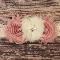Harlequin Rose And Lace Baby Girl Headband! - Baby Headband - Lace Headband - Beautiful - Fancy - Newborn - Infant - Girls - Hair Bow -