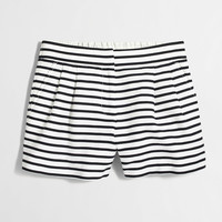 "Factory 4"" striped pull-on short"