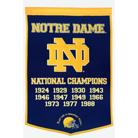 Notre Dame Fighting Irish NCAA Dynasty Banner (24x36)