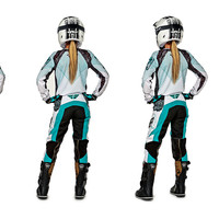 Kinetic Women's Teal/White Racewear