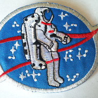 Astronuts Nasa Moon Spaceships Space applique iron on patch