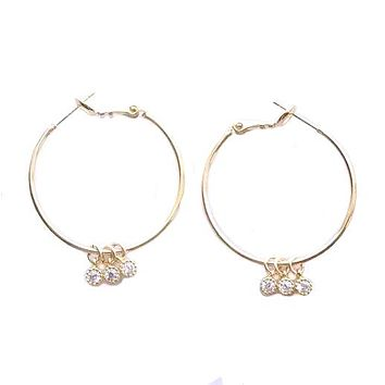 Simple Love Hoops Earrings