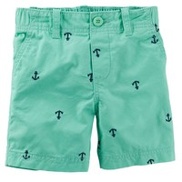 Carter's Nautical Flat-Front Twill Shorts - Baby Boy