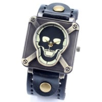 Unisex Skull Wrist Watch For Men Women Jewelryl