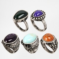 ASOS Stone Ring Multi Pack