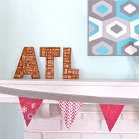 Atlanta Street Map Wall Art - Laser Engraved ATL map - Wall or Shelf Display - Other Cities Available