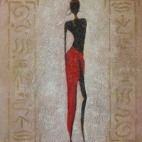 African Beauty III Oil Painting
