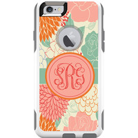 Personalized Monogram Otterbox Commuter iPhone Case - Summer Flowers.
