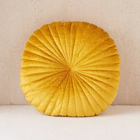 Shelly Round Velvet Pillow | Urban Outfitters