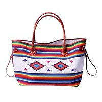 Aztec Colorful Striped Tote Bag