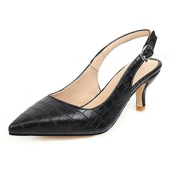 Women's Pointed Toe Slingback Pumps- Large Sizes