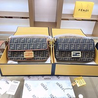 Fendi new retro old flower women's shoulder bag