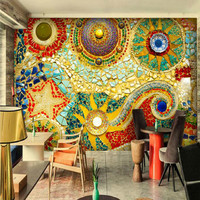 Bohemian Abstract Painting Large Murals Wallpaper Living Room Bedroom Wallpaper Painting Tv Background Wall Wallpaper