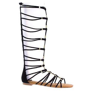 Magical13S By Bamboo Gladiator Flat Open Toe Strappy Sandal, Roman / Greek Goddess Shoes.
