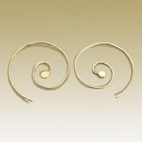 14K yellow gold filled spiral earrings Thoughts by artisanfield