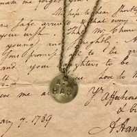 Hamilton The Musical A.ham Bronze Stamped Necklace With Bronze Star Charm