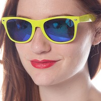 Jewelry & Accessories Candy Colored Wayfarer Sunglasses - Lime
