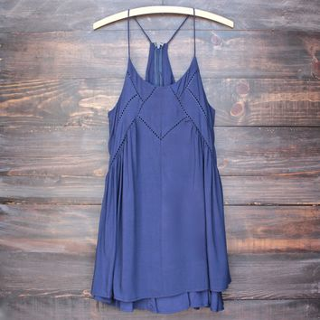Final Sale - Bohemian Day Dress - Navy
