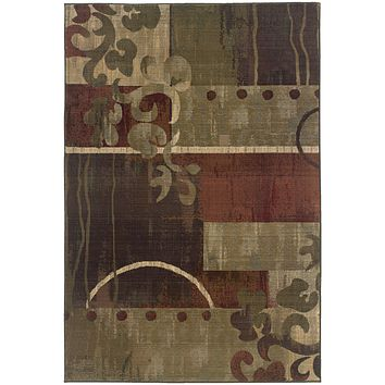 8007A Generations Indoor Area Rug Green/Red