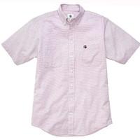 Navy and Red Short Sleeve Social Button Down by Southern Proper