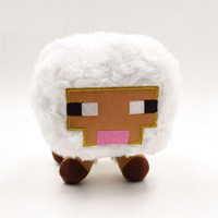 1PC Retail Sheep Minecraft Plush Toys Minecraft Creeper Squid Enderman Pig Mooshroom 7 Kinds 13-25CM Stuffed Animal New Year Christmas Gifts