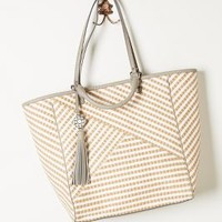 Jute-Stripe Tote by Rafe Neutral One Size Bags