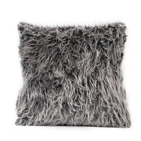 "Soft Plush Fur Throw Pillow Cover Home Decor Faux Fur Fleece 18"" Inches x 18"" Inches"