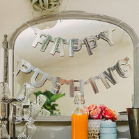 HAPPY PUSHING - Baby Shower Banner/Decoration