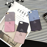 Funny 3D Vision Matte Hard PC Case For iphone 7 Case Cute joint Dual Candy Color Back Cover Phone Cases For Apple iphone7 7 PLus -0405