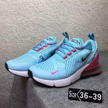 """NIKE"" Trending Fashion Casual Sports Shoes Contrast Sneakers Blue"