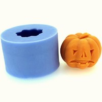 Two teeth Pumpkin  Soap  Mold,Resin Clay Chocolate Candy Silicone Cake Mould,Fondant Cake  mold