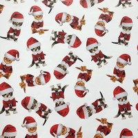 Christmas Gift Wrap Wrapping Paper, Christmas Kittens (8 Rolls 5ft x 30in)