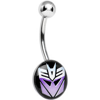 Licensed Decepticon Transformer Belly Ring | Body Candy Body Jewelry