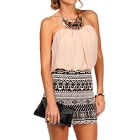 Bloussant Aztec Dress
