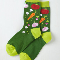 Quirky Just Vegging Out Socks by ModCloth