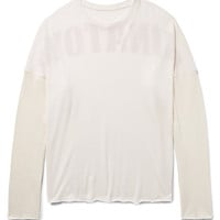 The Elder Statesman - Chinatown Printed Cashmere and Silk-Blend T-Shirt