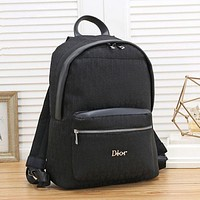 Dior men's and women's canvas all-match backpack